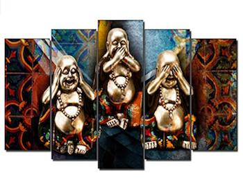 3 Budas sobre fondo Zen