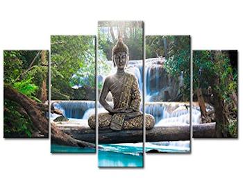 Cuadro de Buda cascada