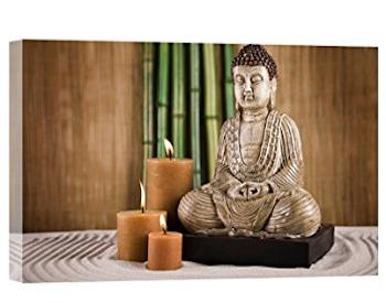 Cuadro de Buda iluminado Led