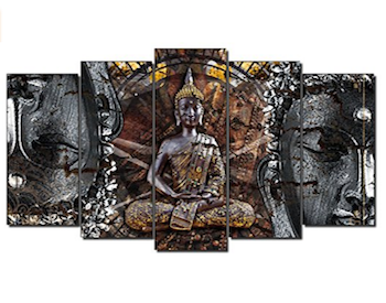 Cuadro en bronce de Buda
