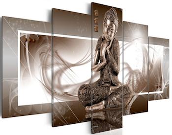 Fotografía de Buda sobre lienzo