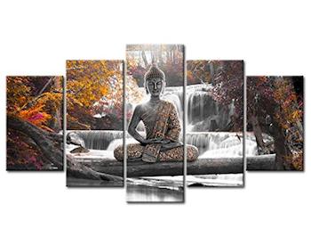 Lienzo de Buda cascada