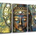 Lienzo retro de Buda