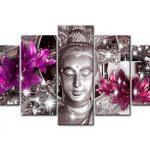 Cuadro de Buda flores